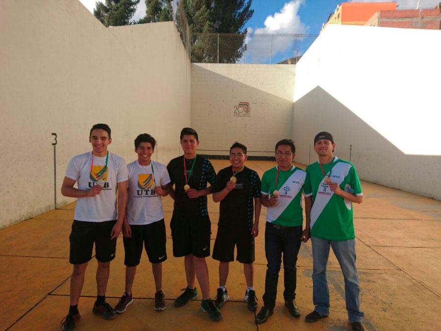 Medalla de Oro en Raqueta Fronton. XI Juegos Deportivos Universitarios AMDULP 2016