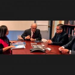 Directiva del Consejo, se reúne con Rectora y Decano de la Universidad Franz Tamayo (UNIFRANZ)
