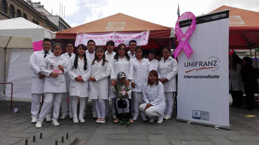 La UNIFRANZ en contra del cáncer de mama